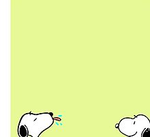 Lime Snoopy Dog iPhone Case ,Casing 4 4s 5 5s 5c 6 6plus Case - Lime Snoopy Dog Samsung case s3 s4 s5 by procase