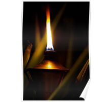 Outdoor oil lamp Poster