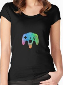N64 Paint Pad Tee Women's Fitted Scoop T-Shirt
