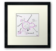 Night Drawings #76 - Breast again  Framed Print