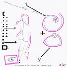 Night Drawings #77 - Breast & Nude by Pascale Baud