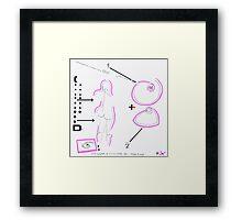 Night Drawings #77 - Breast & Nude Framed Print