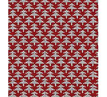 Red and white christmas tree pattern Photographic Print