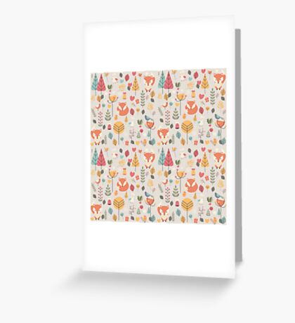 Baby fox pattern 05 Greeting Card