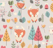 Baby fox pattern 05 Sticker