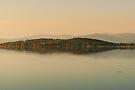 Evening glow, Isola Polvese, Lago Trasimeno, Umbria, Italy by Andrew Jones
