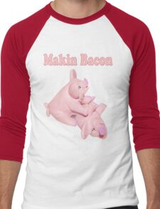 ✾◕‿◕✾ MAKIN BACON TEE SHIRT ✾◕‿◕✾ Men's Baseball ¾ T-Shirt