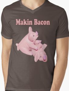 ✾◕‿◕✾ MAKIN BACON TEE SHIRT ✾◕‿◕✾ Mens V-Neck T-Shirt