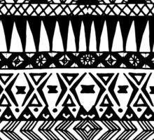 Black and White Hand Drawn Modern Tribal Aztec Sticker