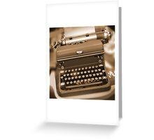 Royal Typewriter Greeting Card
