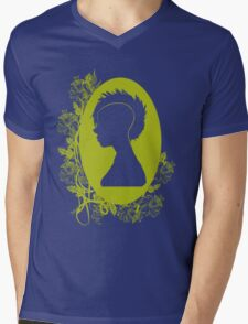 Vintage Punk Cameo Yellow Mens V-Neck T-Shirt