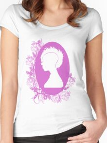 Vintage Punk Cameo Lavander Women's Fitted Scoop T-Shirt