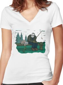 Jason's Cat (Specially Detailed) Women's Fitted V-Neck T-Shirt