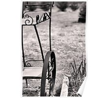 Vintage Trolley - Black and White Poster