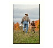 Fall Moments on Grandpa's Farm Art Print