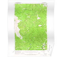 USGS Topo Map Washington State WA Willard 244713 1957 62500 Poster