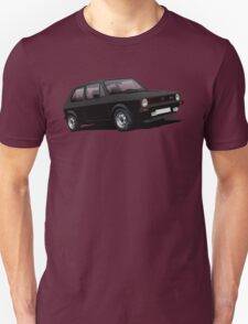 VW Golf GTI MK1 illustration black T-Shirt