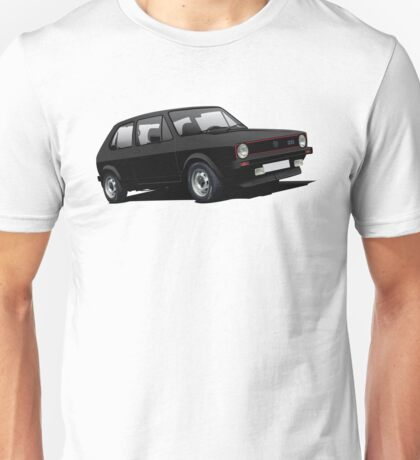 VW Golf GTI MK1 illustration black Unisex T-Shirt