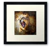 FIRE IN HIS SPIRIT (lion) Framed Print
