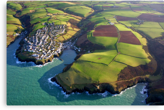 Port Isaac from 2000 feet by Snowyturner