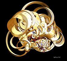 Fractal Christmas Ribbon by lightningMade