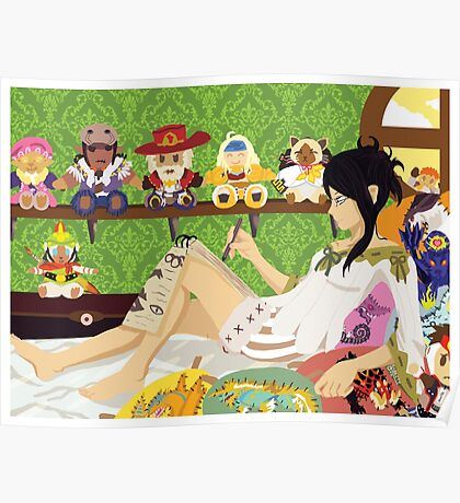 MH4: Guildmarm's Room Poster