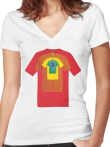 All t-shirt in one Women's Fitted V-Neck T-Shirt