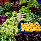 Fresh Organic Vegetables At A Street Market  by Kuzeytac