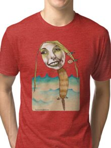Platypus with People Hairclips Tri-blend T-Shirt