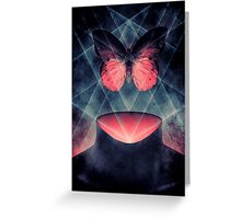 Beautiful Symmetry Surreal Butterfly Greeting Card