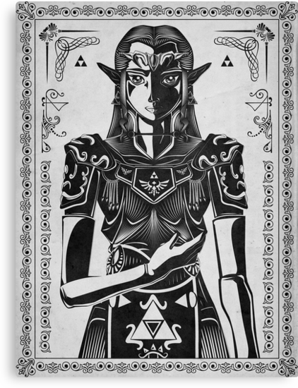 Legend of Zelda Princess Geek Art by barrettbiggers