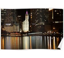 Chicago City Scape Poster