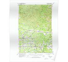 USGS Topo Map Washington State WA Onalaska 242963 1954 62500 Poster
