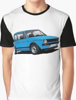 Volkswagen Golf GTI Mk1 illustration blue Graphic T-Shirt