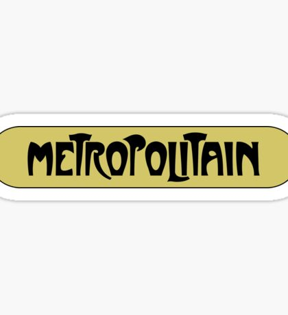 Metropolitain, Subway Sign, Paris, France Sticker