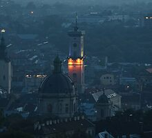 Dusk over Lviv by Oleksii Rybakov