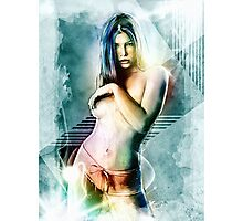 Jessica Biel Celebrity Tra Digital Painting  Photographic Print
