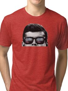 JFK Pop-Art t-shirt (black & White) Tri-blend T-Shirt