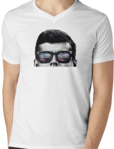 JFK Pop-Art t-shirt (black & White) Mens V-Neck T-Shirt