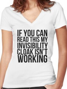 Invisibility Cloak Women's Fitted V-Neck T-Shirt