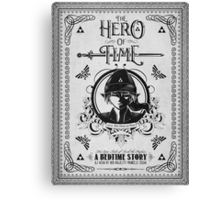 Legend of Zelda Link Hero of Time Geek Line Artly Canvas Print