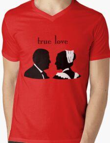 Anna and Bates true love Mens V-Neck T-Shirt