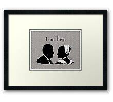 Anna and Bates true love Framed Print