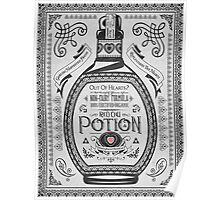 Legend of Zelda Red Potion Geek Line Artly Poster