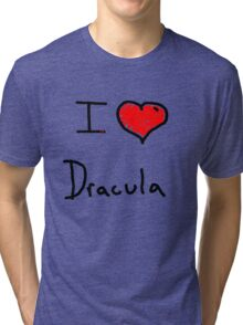 i love Halloween Dracula  Tri-blend T-Shirt