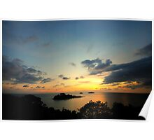 Scenic view during sunset Poster