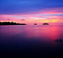 Beautiful twilight scene by goldsaintphoto