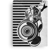 Megaman Nintendo Geek Line Artly Canvas Print
