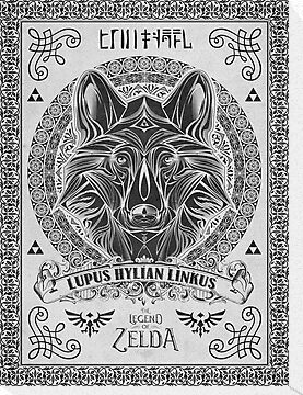 Legend of Zelda Twilight Princess Wolf Link Line Artly  by barrettbiggers