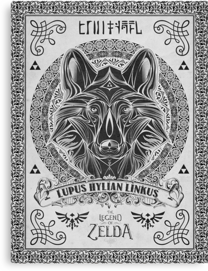 Legend of Zelda Twilight Princess Wolf Link Line Artly  by barrettbiggers